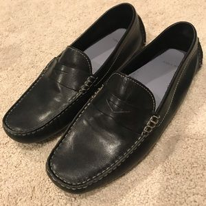 Cole Haan black leather flat